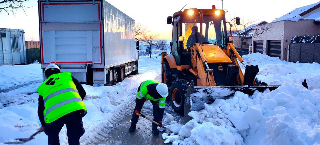 Portada de entrada de blog de Jarama retirando nieve de Filomena