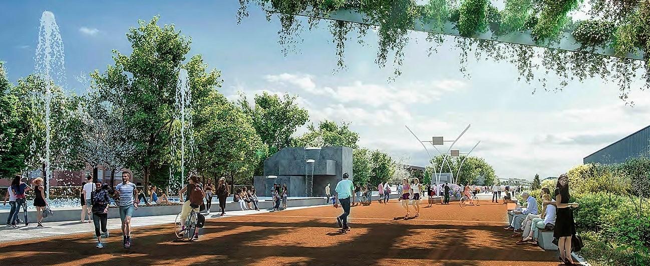 Render del nuevo parque de Rivas